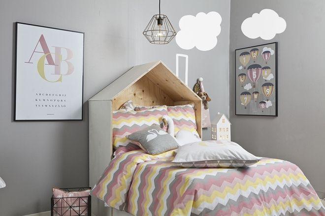 Pasteller blandas med grått hos svenska Frank&Poppy #inredning #jollyinspo #barnrum