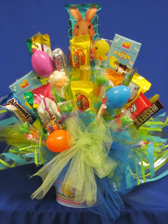 7 best images about easter on pinterest peeps learning and bunnies easter candy bouquet perfect gift for everyone by candybouquetllc negle Choice Image