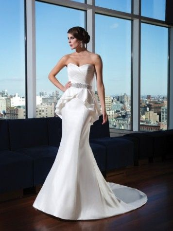 Justin Alexander Signature collection peplum  wedding dress