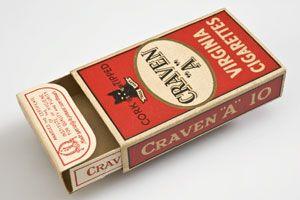 Craven A cigarettes, popular in World War 2