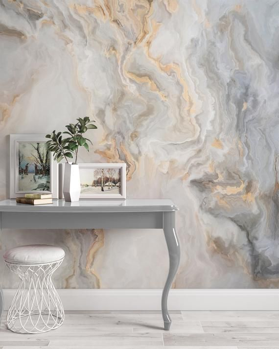 White Marble Pattern Curly Grey Golden Look Abstract Wallpaper Etsy Gold Abstract Wallpaper Gold Marble Wallpaper White And Gold Wallpaper