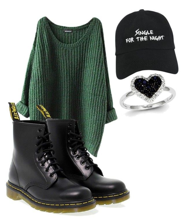 """""""night in the forrest"""" by oliviasjstad on Polyvore featuring Dr. Martens, Nasaseasons and Kevin Jewelers"""