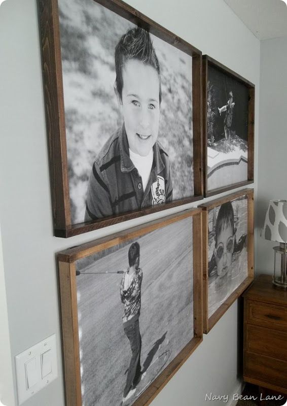 DIY huge picture frames with engineer printed photos