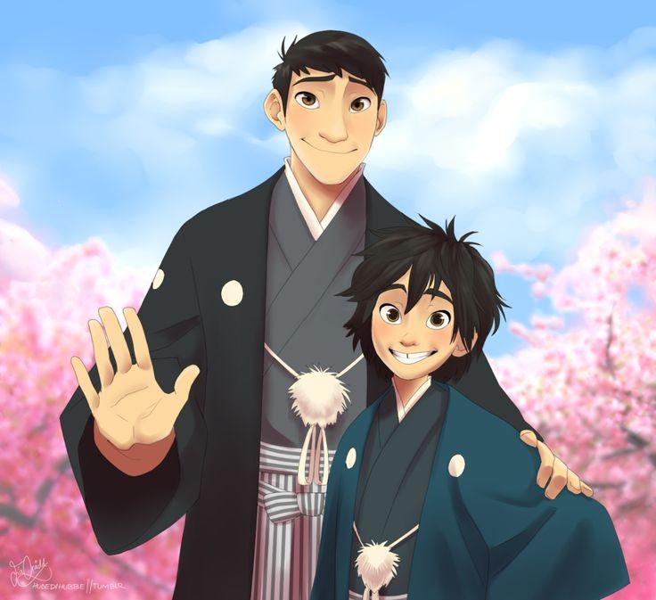 Tadashi and hiro hamada going traditional in kimonos in japanese