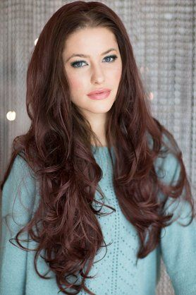 31 99 3 4 hairpiece extension half wig red ish brown