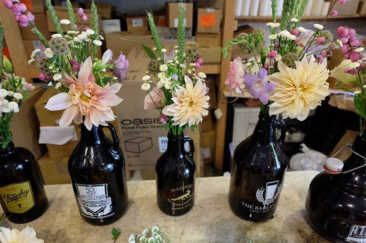 Behind the Scenes: Ashleigh & Phil's Beer-Themed Wedding at Rodes Farm | Blue Ridge Floral Design