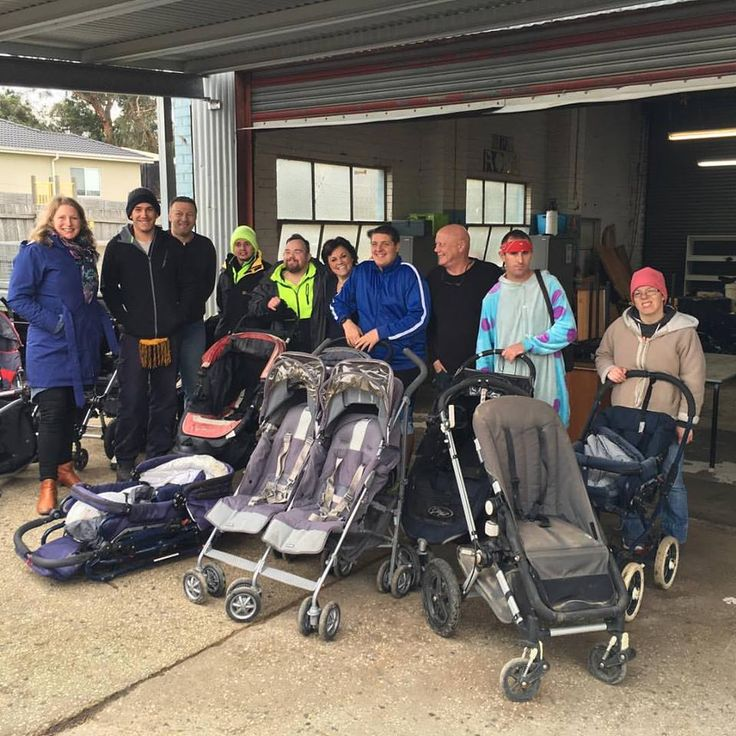 Our next exciting project is to work with Interchange in Ferntree Gully to restore preloved prams. What a team! They are all really happy to be providing much needed pram repairs and can't wait to see one of the prams they have ‪#‎pramsformed‬ being given to its next family. Thank you for being part of our village!