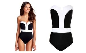 #Groupon - #OnePiece #PushUp #Bikini #Swimwear. Groupon #deal price: $14.99 #ShopOnline #Clearance #Sale #Women #Swimsuit #Outfits #Black and #White #New