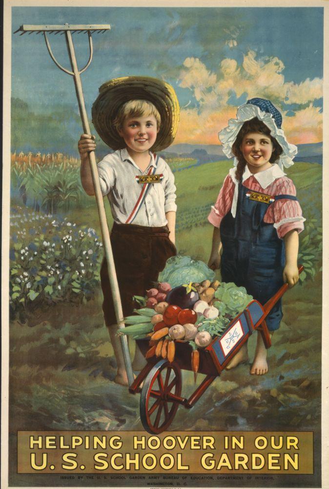 Victory Garden Poster,Helping Hoover In Our U.S. School Garden