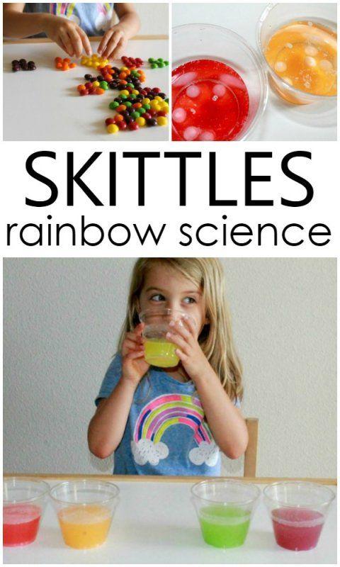 Skittles Rainbow Science Experiment for Preschool