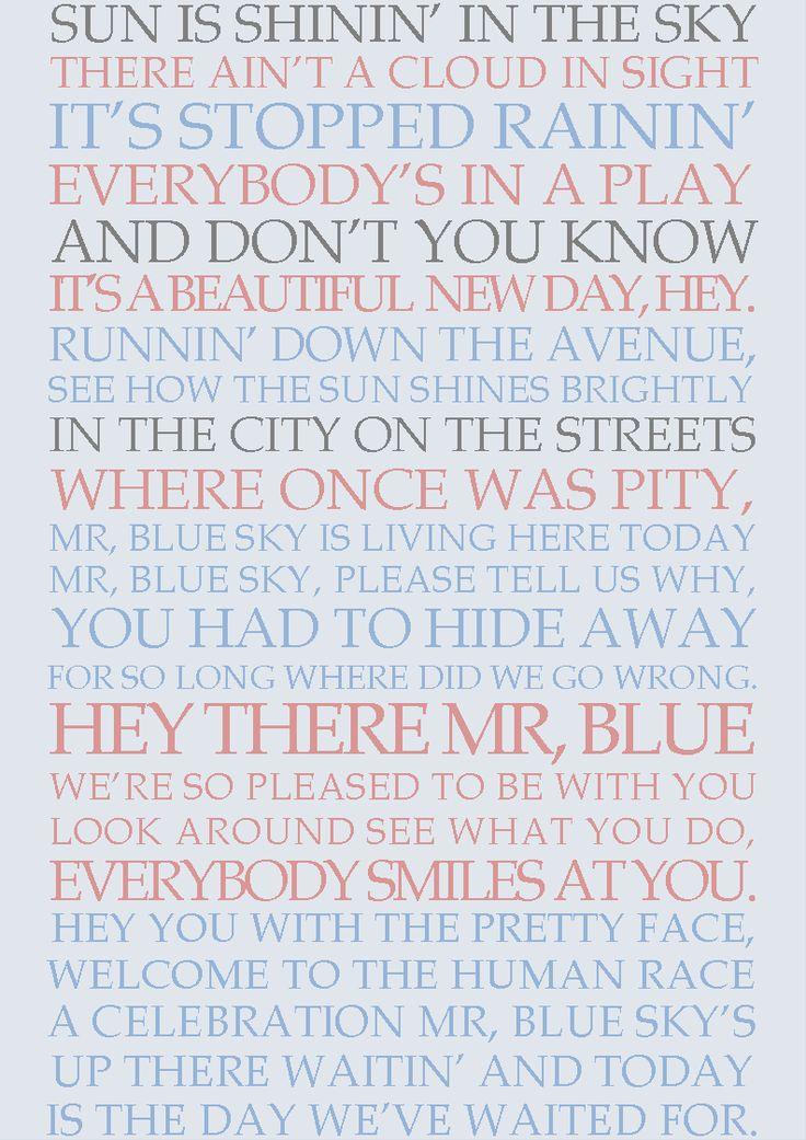 Mr. Blue Sky with Lyrics - YouTube