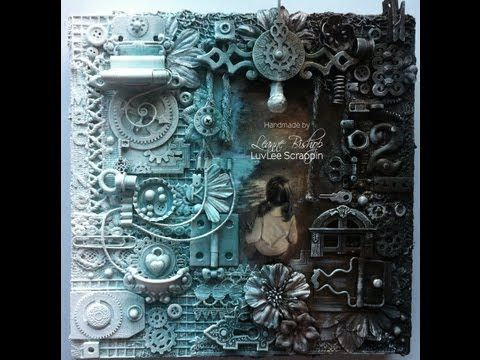 My First Mixed Media Canvas Collage!!!