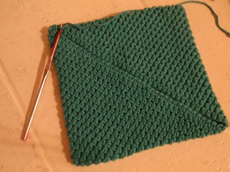 Crochet Pot Holder Tutorial Potholders, Dress blues and Crochet potholders