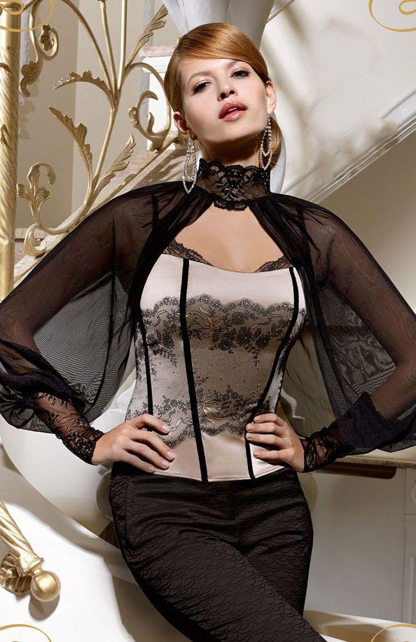 #lingerie #black and white #corset #Gracya