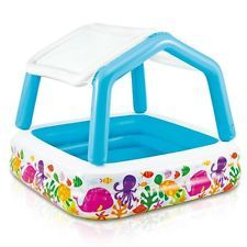 Inflatable Pool Sun Shade Kids Summer Toddler Baby Canopy Swim Wading Play New