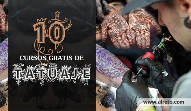 Aquí encontrarás 10 cursos gratis online para aprender a tatuar: videos con consejos, maquinaria, diseños, higiene, zonas sensibles, etc, todo muy bien explicado y fácil de entender.