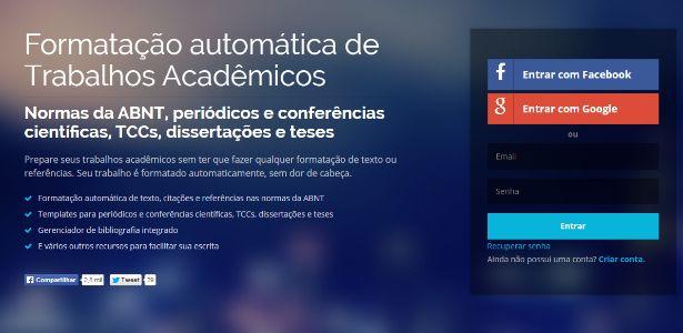 Três estudantes da pós-graduação em Computação da UFPE (Universidade Federal de Pernambuco) criaram uma software que organiza textos no formato exigido pel...