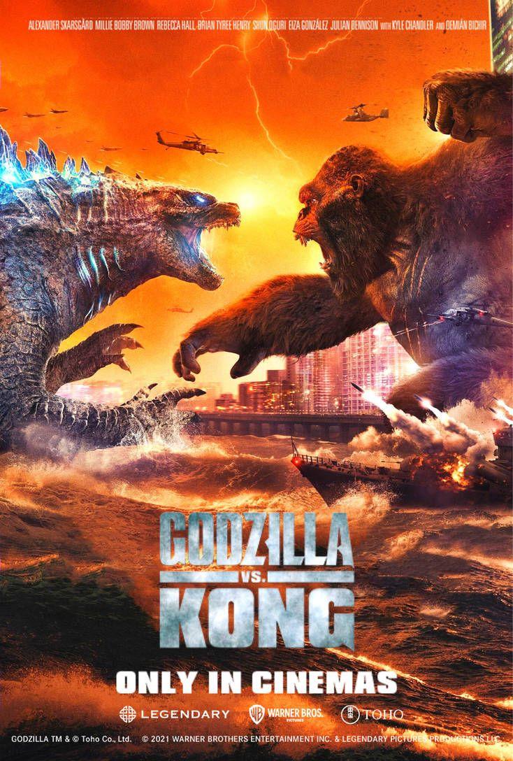 Godzilla Vs Kong Chinese Poster 2 English Version By Matheusgodzilla In 2021 King Kong Vs Godzilla Godzilla Vs Kong Godzilla