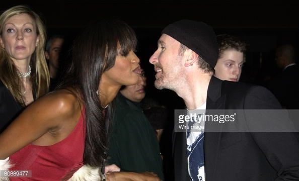 Naomi Campbell and The Edge