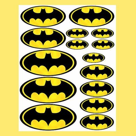 INSTANT DOWNLOAD Batman ( 4 sizes ) - for Balloon, Stickers, Lollipop, Favor bags, Cups - Batman birthday party - PRINTABLE Batman birthday ...