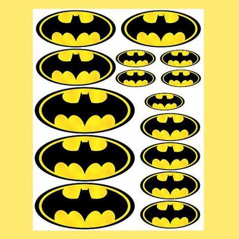 INSTANT DOWNLOAD Batman ( 4 sizes ) - for Balloon, Stickers, Lollipop, Favor bags, Cups - Batman birthday party - PRINTABLE Batman birthday ...