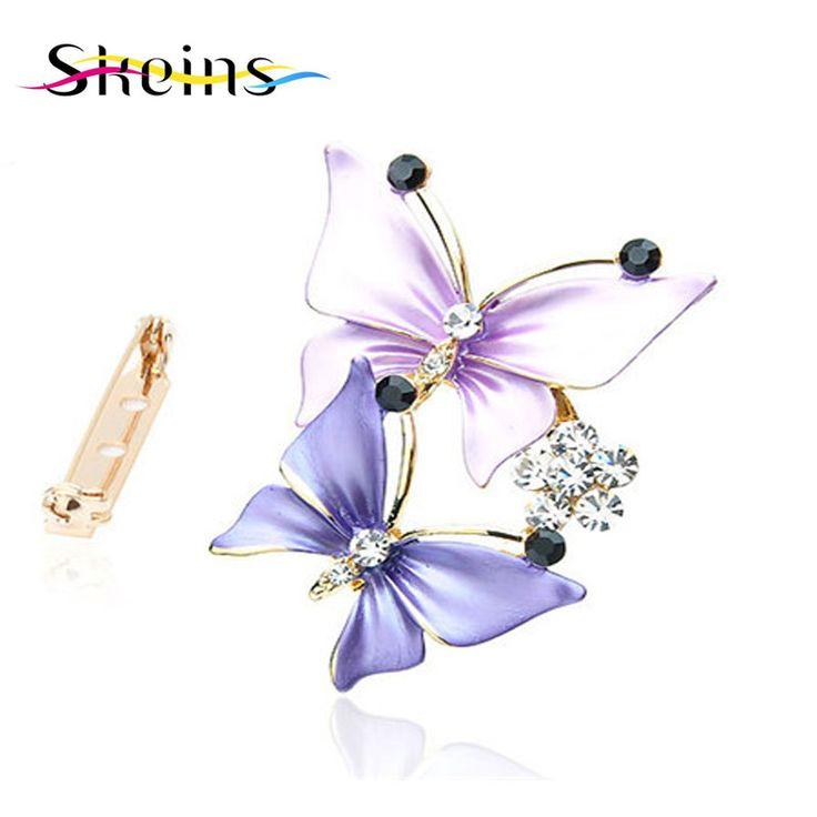 2016 Madejas que restaura maneras antiguas es popular en Europa y América de la mariposa broche de cristal diseñado para la boda las mujeres
