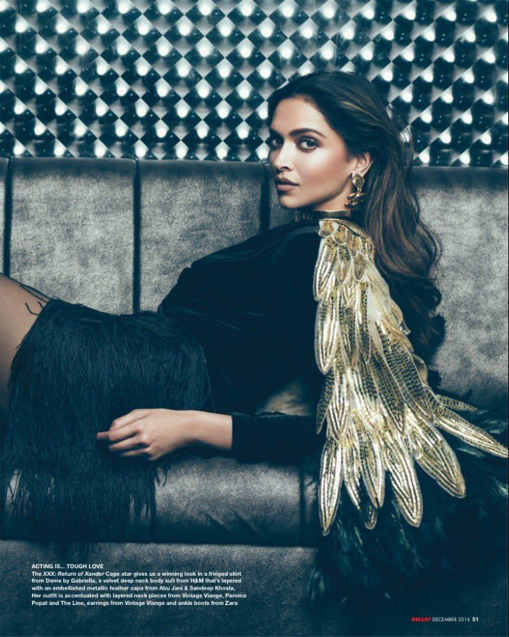 Deepika Padukone for Hello! India