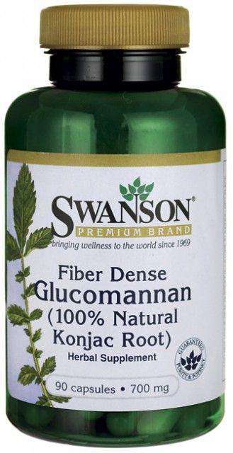 Fiber Dense Glucomannan Forte 2100-4200 mg - 100% Natural Konjac Root 90 capsule Slabit, Dieta Shirataki *