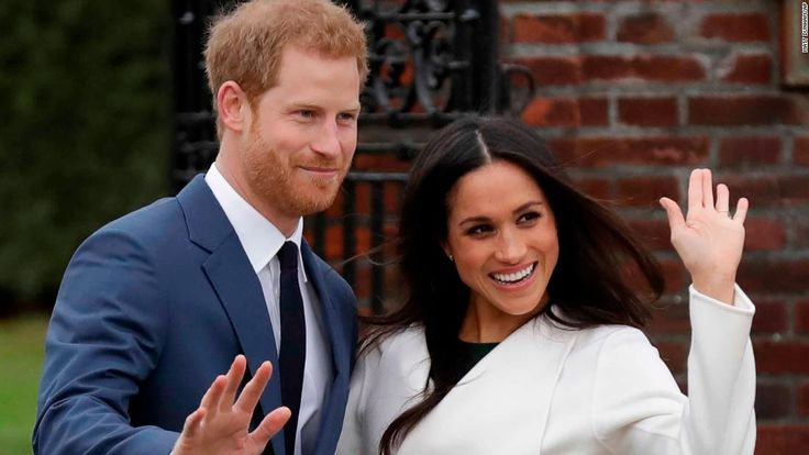 Britain's Prince Harry and the American actor Meghan Markle have made their first public appearance since their engagement was announced earlier Monday.