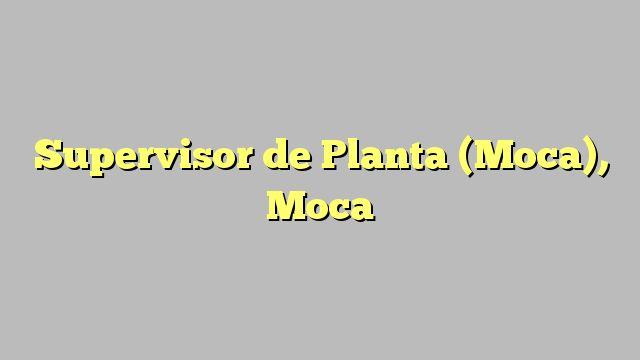 Supervisor de Planta (Moca), Moca
