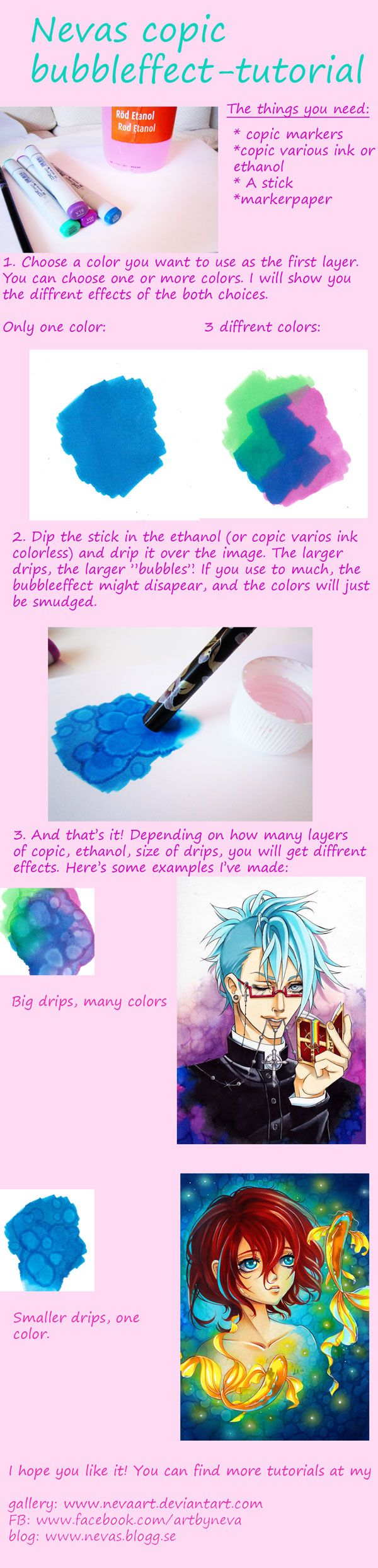 """TUTORIAL - Bubble Effect by Nevaart.... this should work with ANY alcohol markers and their """"colorless"""" blender liquid refill"""
