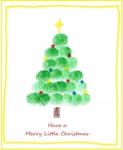 transitional kindergarten | Transitional Kindergarten Activities / Fingerprint Art Christmas Tree ...