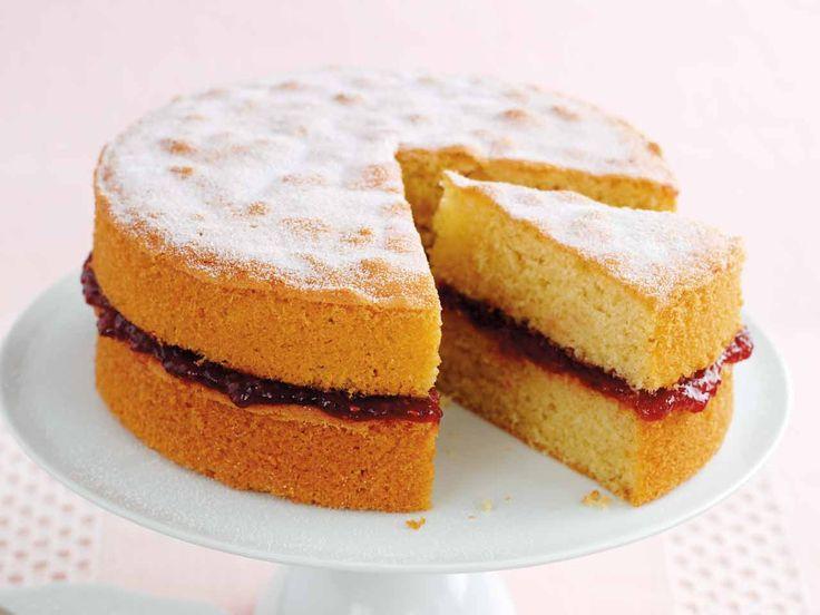 #TastyTuesday... Who loves a tradition Victoria sponge cake? We do! http://www.bbc.co.uk/food/recipes/mary_berrys_perfect_34317 #Recipe #VictoriaSpongeCake #Cake