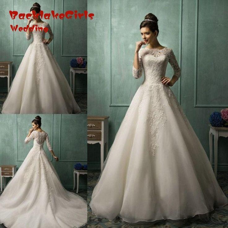 Свадебное платье принцесса с цветами