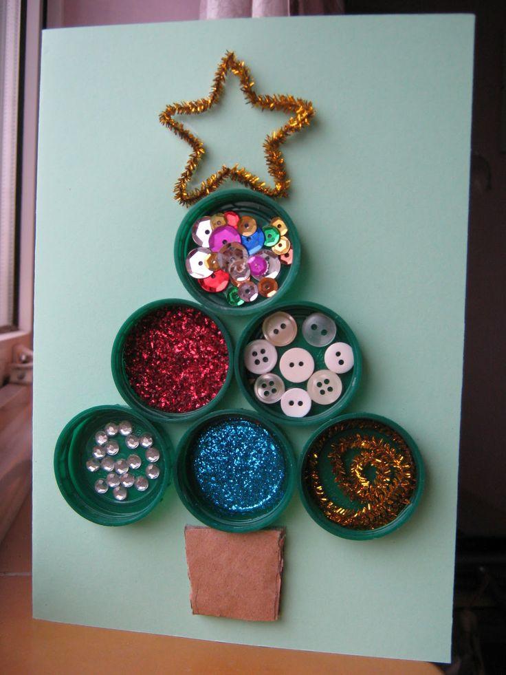 Ideas postales de Navidad  http://www.educacioilestic.cat/2013/11/20-idees-nadalenques-per-fer-postals-i.html