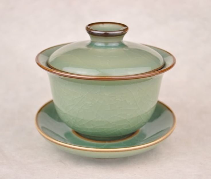 Cracked Celadon Gaiwan for Gong Fu Tea Brewing * 130ml