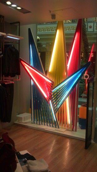 Adidas Ribbon Window Display