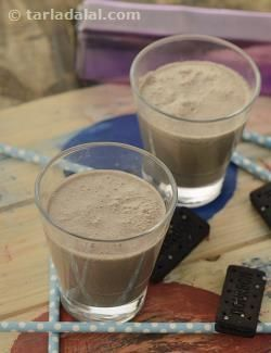 Kids' all-time favourite bourbon biscuits are blended with chilled milk and ice-cream to make a lip-smacking Bourbon Milkshake,