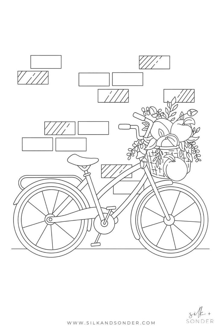 Bike Coloring Page  Coloring pages, Free coloring pages