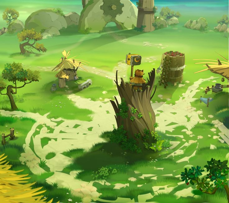 puddles village Wakfu Stephane Baton