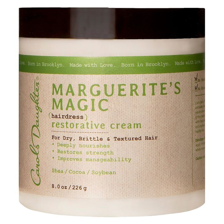 DEEPLY NOURISHES, RESTORES STRENGTH, & IMPROVES MANAGEABILITY! No Silicones, No Parabens, No Mineral Oil, No Artificial Colors, No Petroleum FOR DRY, BRITTLE & TEXTURED HAIR. Lisa's nana, Marguerite, was a woman of many talents. In addition to being a wonderful cook and baker, Nana also made her own hairdress. When a perm had someone's hair falling out, they would come to Maggie for some of her magic. This intense conditioning cream recaptures some of this magic–It b...