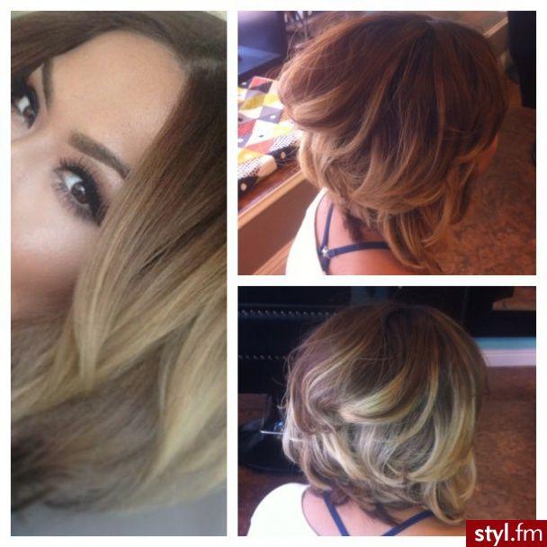 Fryzury Blond włosy: Fryzury Średnie Na co dzień Proste Rozpuszczone Blond - ombre - 2035329