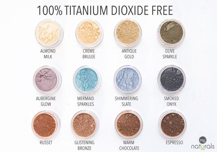 Our Eye shadow's are free from titanium dioxide, harsh chemicals, parabens, Bismuth Oxychloride, talc, synthetic dyes, fillers, fragrance & preservatives. T