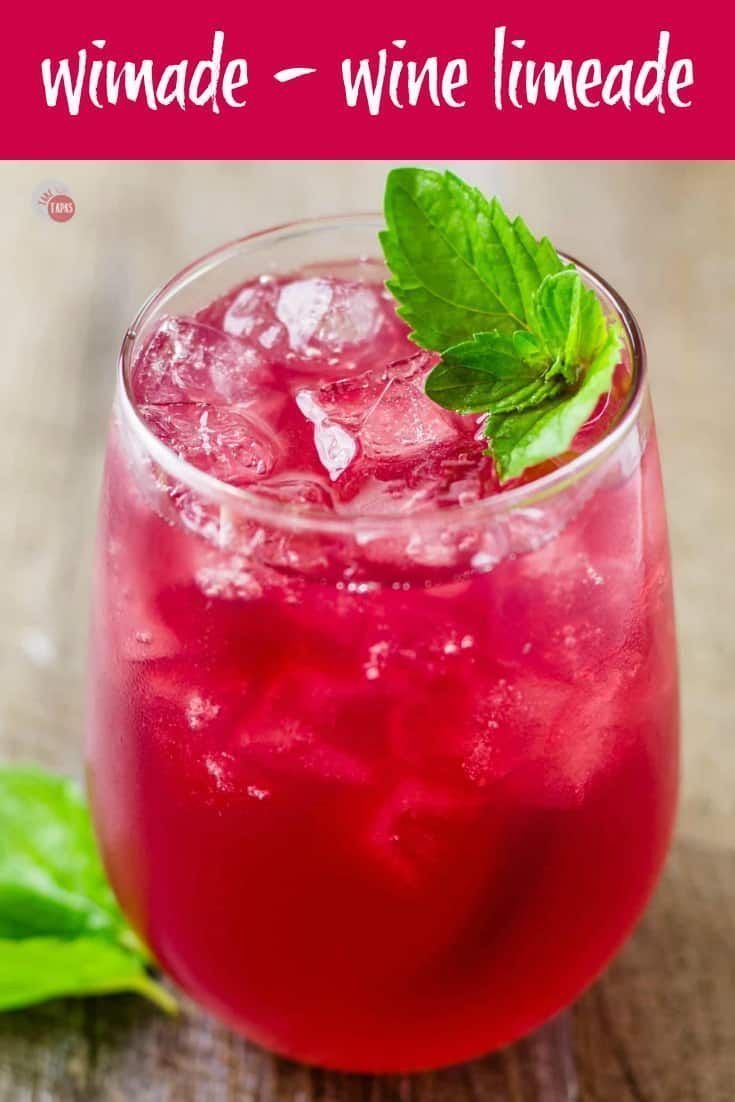 Mixed Wimade Comes From The Dark Red Wine Mixed With The Honey Limeade Take Two Tapas Wimade Wine Limeade Hon Limeade Wine Mixed Drinks Red Wine Recipe
