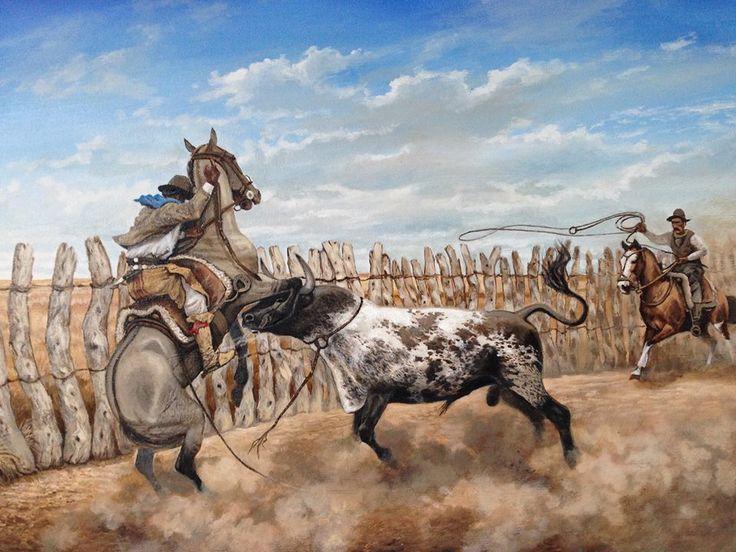 "Fogón Rural : HISTORIA DEL LAZO Mario A. López Osornio...""Aseguralo negro!"" óleo de Francisco Madero Marenco"