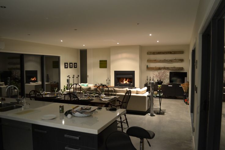 Kitchen and Family Room | Millhills Lodge