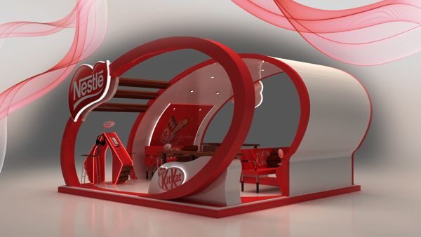 Nestle Exhibition Booth : Nestle kit kat d booth design g pixel