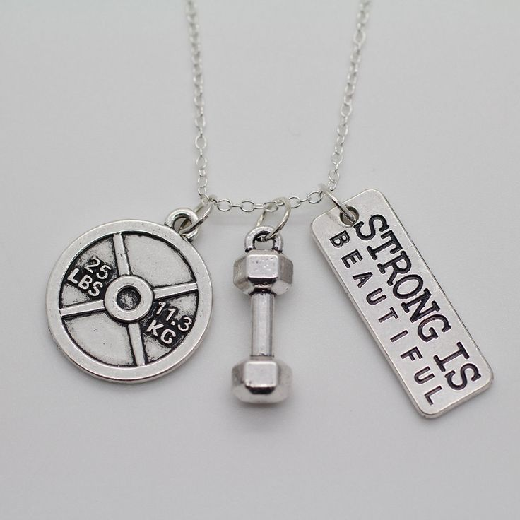 Women's Weight Lifting Fitness Pendant Necklace