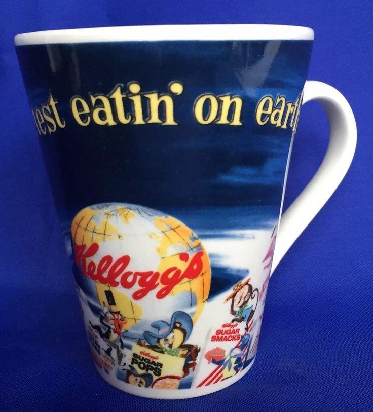 Kellogg Vintage Brand Mug Sweetest Eatin On Earth Tony The Tiger Cereal Mascot #Vintage