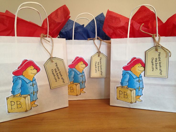 Paddington bear party bags From party bags for kids Find us on Facebook  07799434226 Crofty75@aol.com Http://partybagsforkids.weebly.com